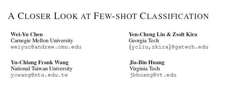 Few Shot Learning 的第一篇记录
