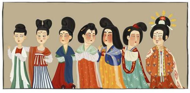 画鬼畜妆容,拿木头当假发,唐朝女子打扮起来真浮夸!