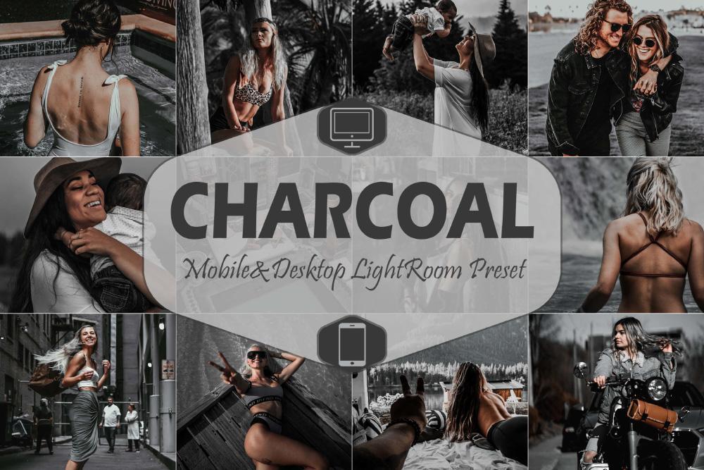 【P299】城市旅拍工业风木炭黑金胶片LR\手机LR预设Charcoal Mobile & Desktop Lightroom Presets